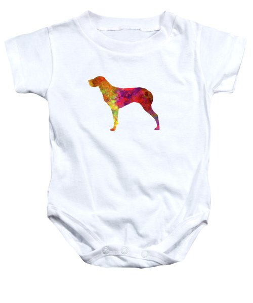 Burgos Pointer In Watercolor Baby Onesie by Pablo Romero