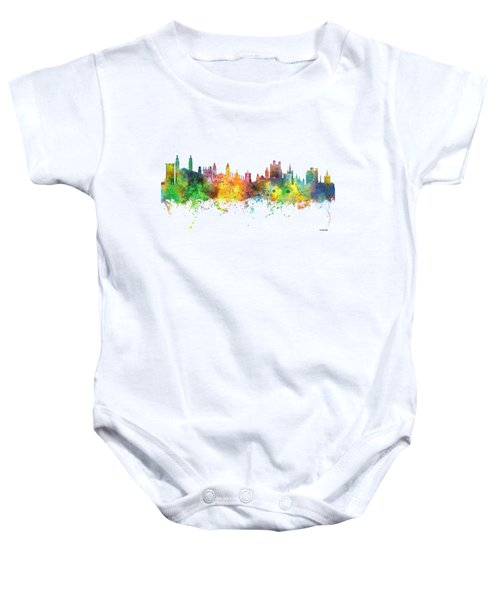 Cambridge England Skyline Baby Onesie by Marlene Watson