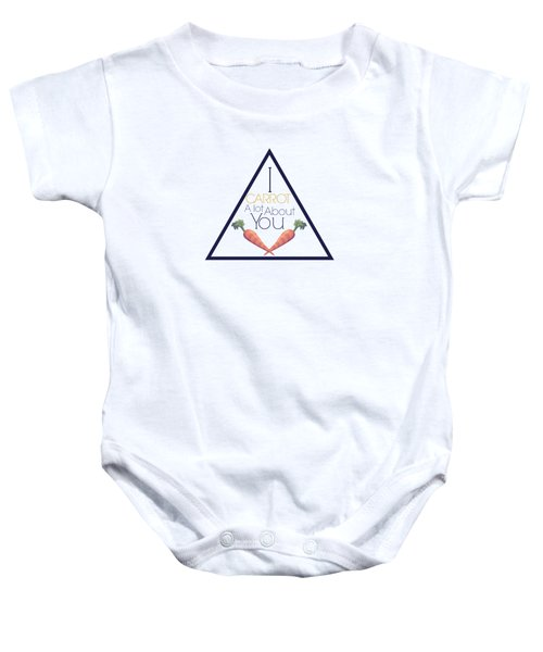 Carrot About You Pyramid Baby Onesie by Lunar Harvest Designs