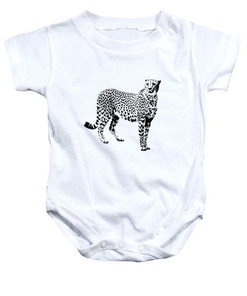 Cheetah Cutout Baby Onesie by Greg Noblin
