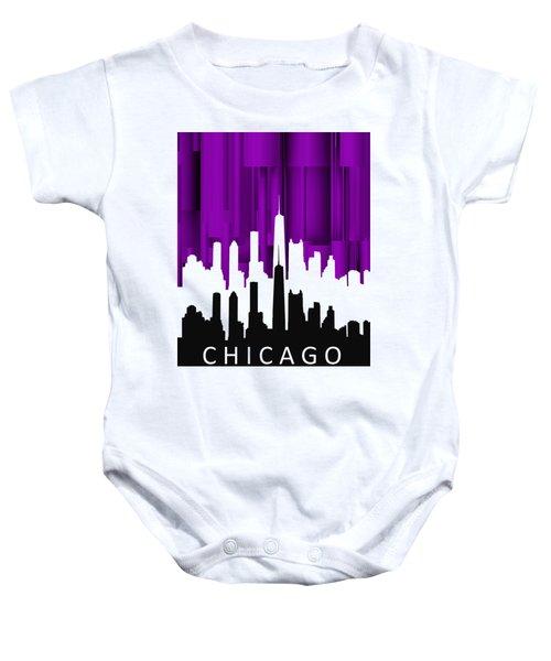 Chicago Violet In Negative Baby Onesie by Alberto RuiZ