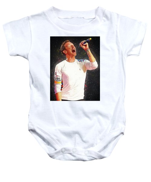 Chris Martin - Coldplay Baby Onesie by Semih Yurdabak