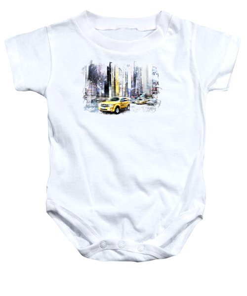 City-art Times Square II Baby Onesie by Melanie Viola