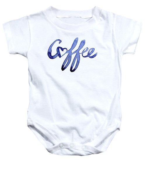 Coffee Love Baby Onesie by Olga Shvartsur