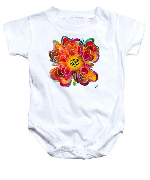 Colorful Flower Art - Summer Love By Sharon Cummings Baby Onesie by Sharon Cummings