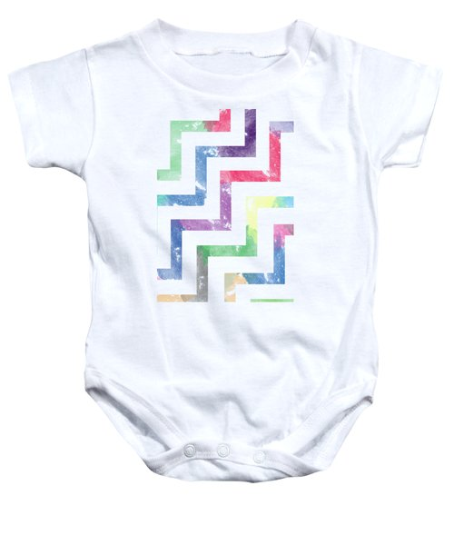 Colorful Geometric Patterns Vi Baby Onesie by Amir Faysal