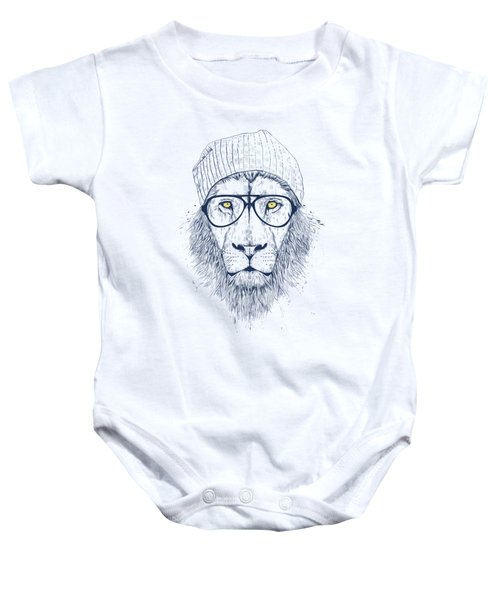 Cool Lion Baby Onesie by Balazs Solti