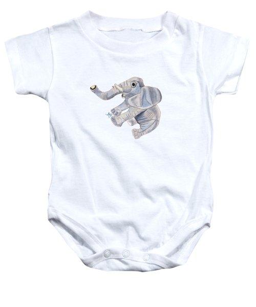 Cuddly Elephant IIi Baby Onesie by Angeles M Pomata