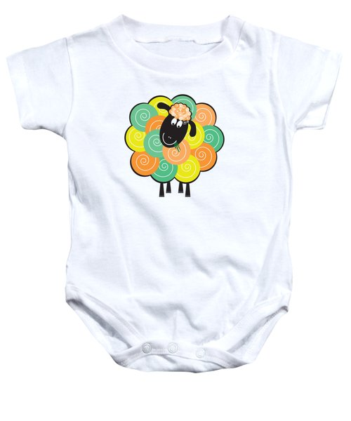 Curlier The Sheep Baby Onesie by Natalie Kinnear