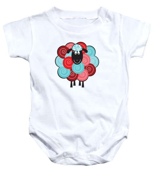 Curly The Sheep Baby Onesie by Natalie Kinnear