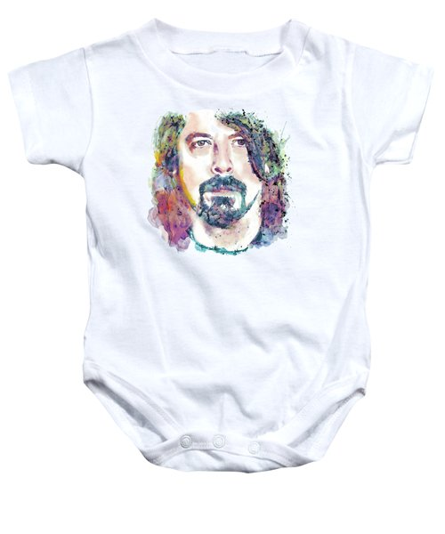 Dave Grohl Close-up Baby Onesie by Marian Voicu