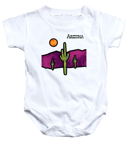 Desert Stained Glass Baby Onesie by Methune Hively