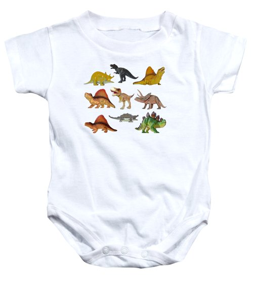 Dino Prehistoric Animals Baby Onesie by Miroslav Nemecek