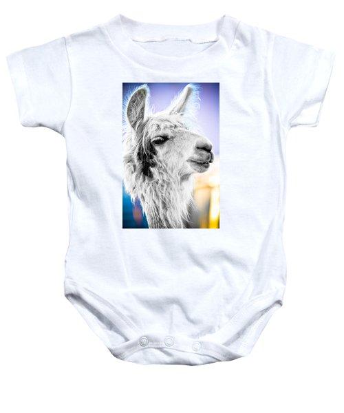 Dirtbag Llama Baby Onesie by TC Morgan