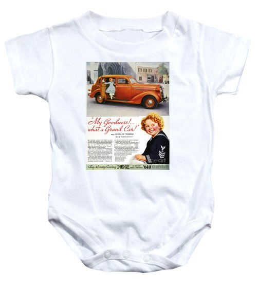 Dodge Automobile Ad, 1936 Baby Onesie by Granger