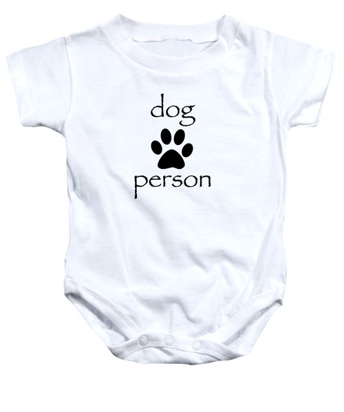 Dog Person Baby Onesie by Bill Owen