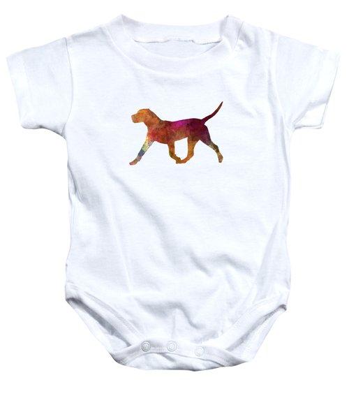 Dogo Canario In Watercolor Baby Onesie by Pablo Romero