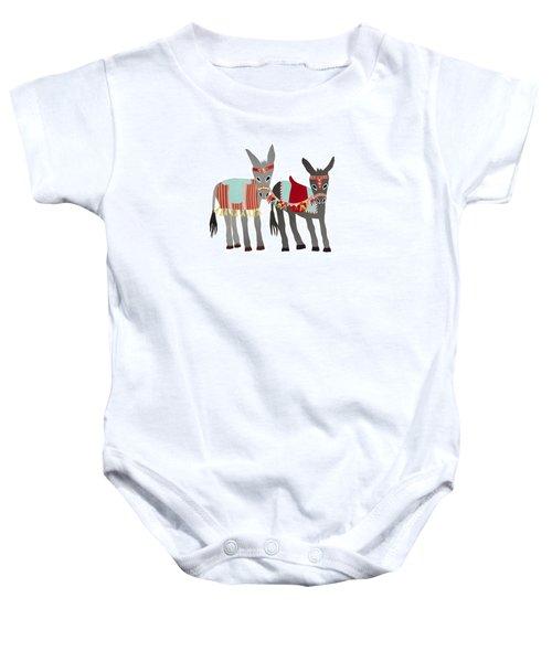 Donkeys Baby Onesie by Isoebl Barber