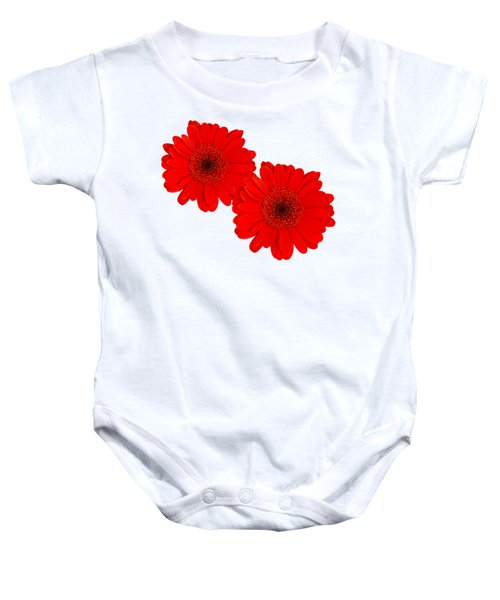Double Gerbera Baby Onesie by Scott Carruthers
