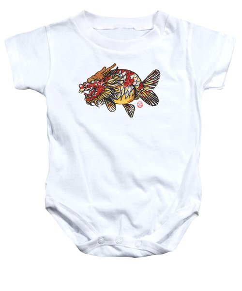 Dragon Ranchu Baby Onesie by Shih Chang Yang