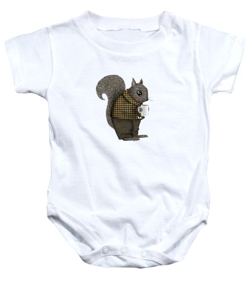 Early Morning For Mister Squirrel Baby Onesie by Little Bunny Sunshine