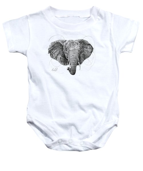Elephant Baby Onesie by Michael Volpicelli
