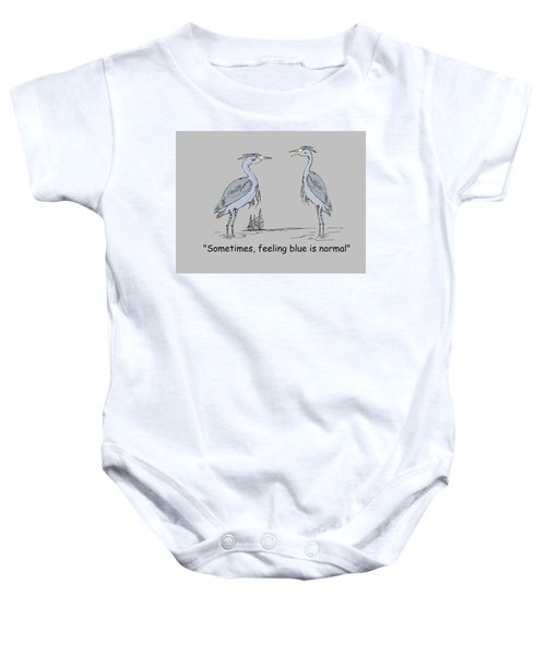 Feeling Blue Baby Onesie by Levi Soucy