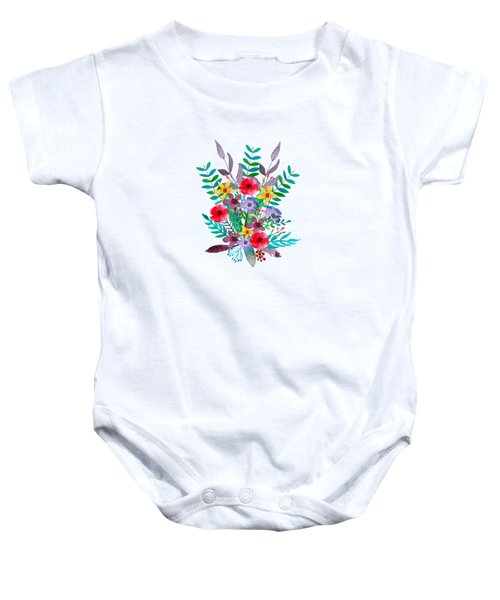 Floral Bouquet Baby Onesie by Amanda Lakey