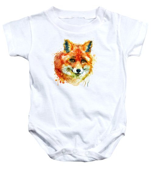 Fox Head Baby Onesie by Marian Voicu
