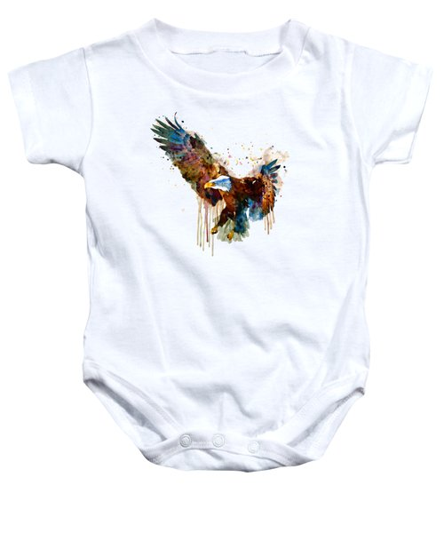 Free And Deadly Eagle Baby Onesie by Marian Voicu