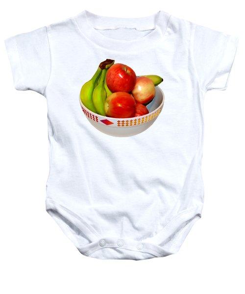 Fruit Bowl Still Life Baby Onesie by William Galloway