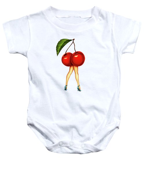 Fruit Stand- Cherry Baby Onesie by Kelly Gilleran