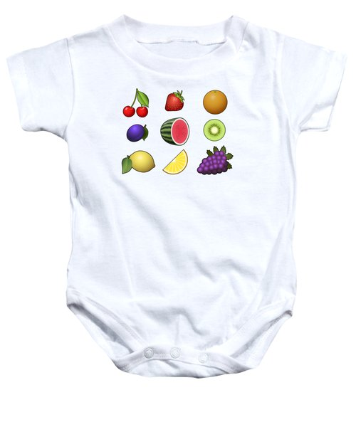 Fruits Collection Baby Onesie by Miroslav Nemecek