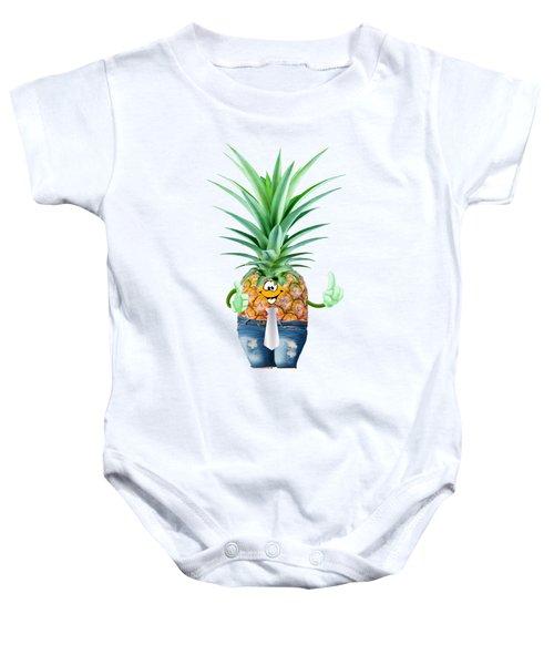 Fun Pineapple  Baby Onesie by Elena Nikolaeva