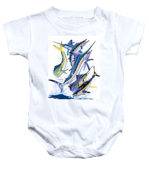 Gamefish Digital Baby Onesie by Carey Chen