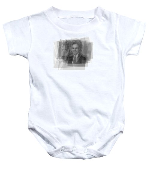 George H. W. Bush Baby Onesie by Steve Socha