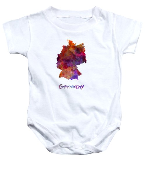 Germany In Watercolor Baby Onesie by Pablo Romero
