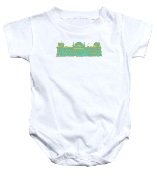 Germany Reichstag Dots Baby Onesie by Frank Hoven