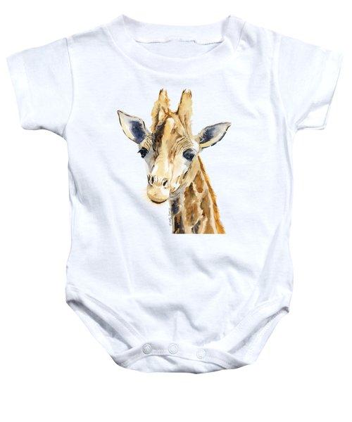 Giraffe Watercolor Baby Onesie by Melly Terpening