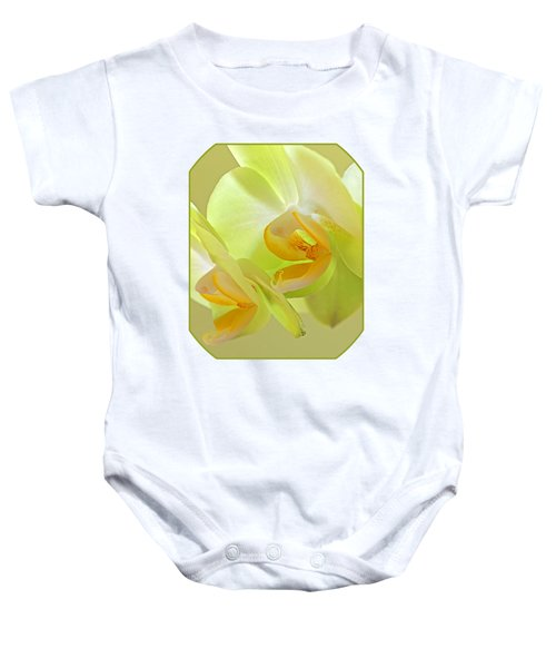 Glowing Orchid - Lemon And Lime Baby Onesie by Gill Billington