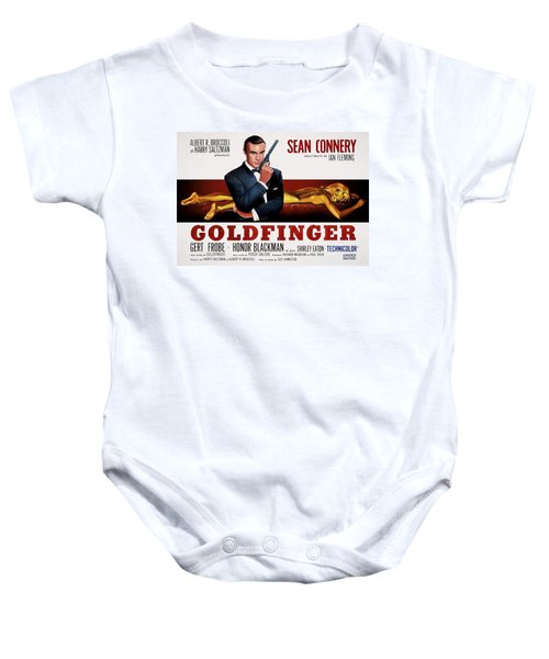 Goldfinger James Bond French Lobby Poster Painterly Baby Onesie by Daniel Hagerman