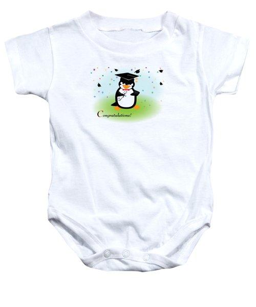 Graduation Penguin Baby Onesie by Jane E Rankin