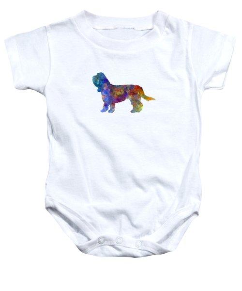Grand Basset Griffon Vendeen In Watercolor Baby Onesie by Pablo Romero