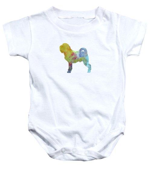 Griffon Belge In Watercolor Baby Onesie by Pablo Romero