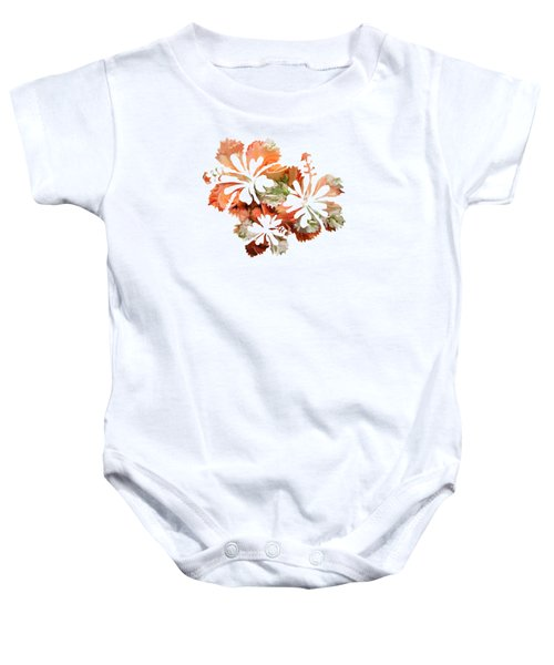 Hibiscus Flowers Baby Onesie by Art Spectrum