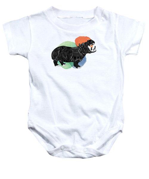 Hippo Baby Onesie by Serkes Panda
