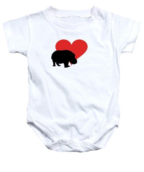 Hippopotamus Baby Onesie by Mordax Furittus