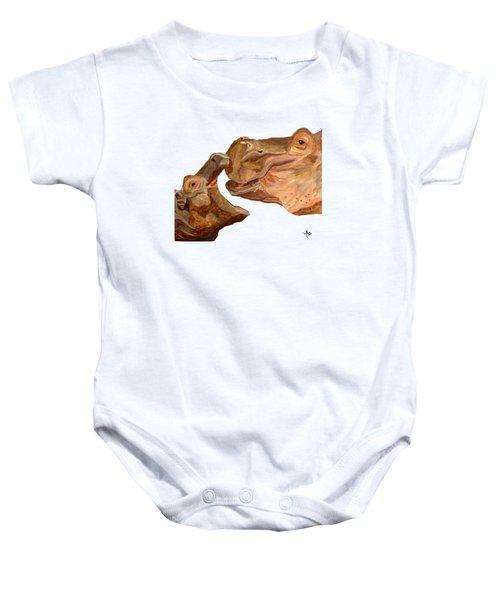 Hippos Baby Onesie by Angeles M Pomata