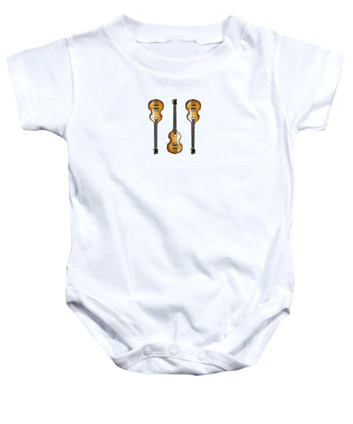 Hofner Violin Bass 62 Baby Onesie by Mark Rogan
