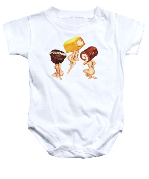Hostess With The Most Tits Baby Onesie by Kelly Gilleran